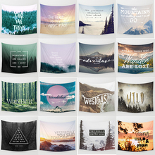 Hot sale forest  adventure theme wall hanging tapestry home decoration tapiz pared 1500mm*1500mm