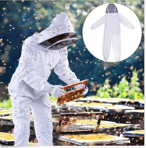 Protective Clothing Thick White Jumpsuits one-pieces for beekeeping apicultura honey bees