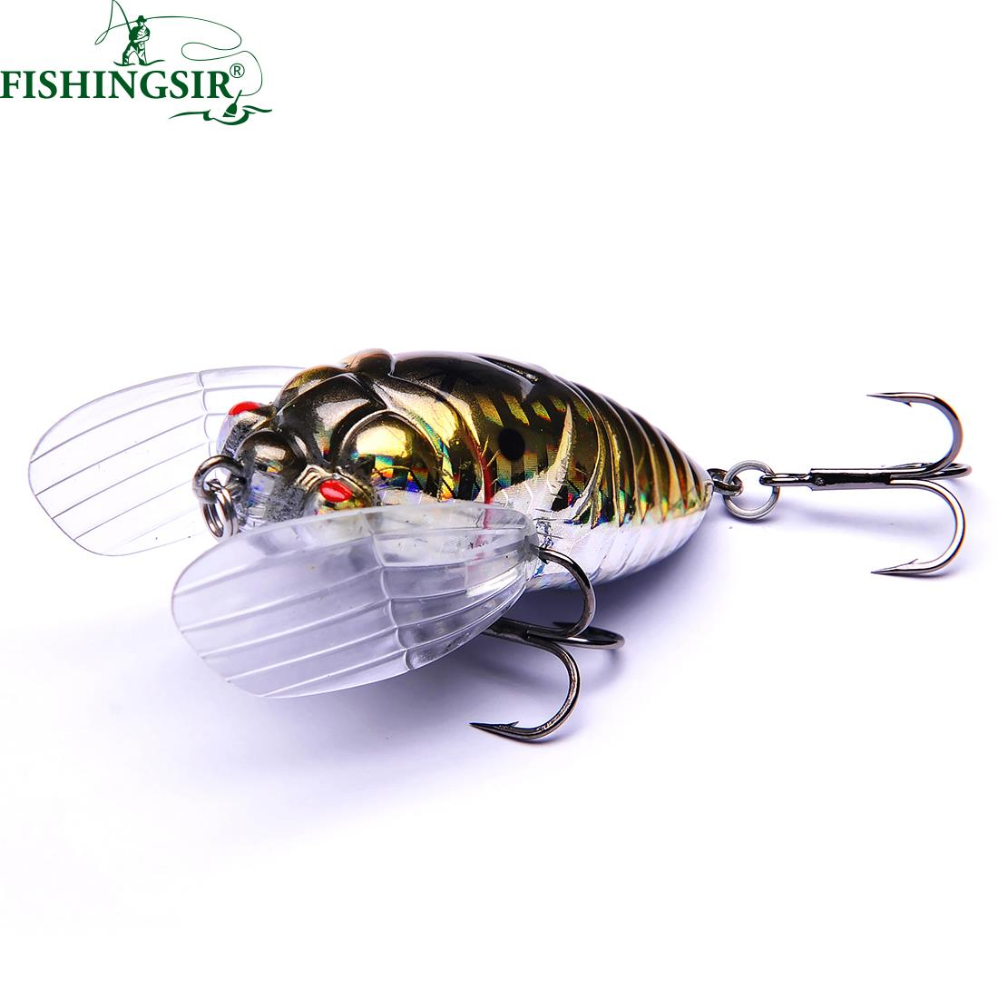 Winter Ice Fishing Lures Floating Insect Fly Tying Fishing Lure Cicada Baits 40mm 55mm Artificial Hard Bait Pesca Tackle Hooks nils master baby shad 5cm vertical jigging ice fishing lures