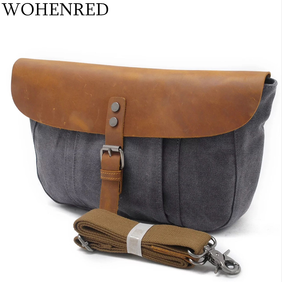 Men's Messegner Bags Vintage Canvas Casual Male Bag High Quality Fashion Leather Crossbody Bags For Men Shoulder Bags Wholesale hot vintage new 2018 high quality canvas men messenger bags crossbody bag casual bag canvas laptop shoulder bag for men li 1629
