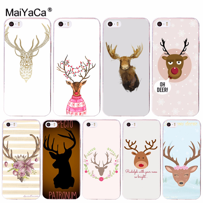 MaiYaCa Cute Cartoon Deer Luxury High-end Protector phone Case for iPhone 8 7 6 6S Plus X 10 5 5S SE 5C 4 4S Coque Shell