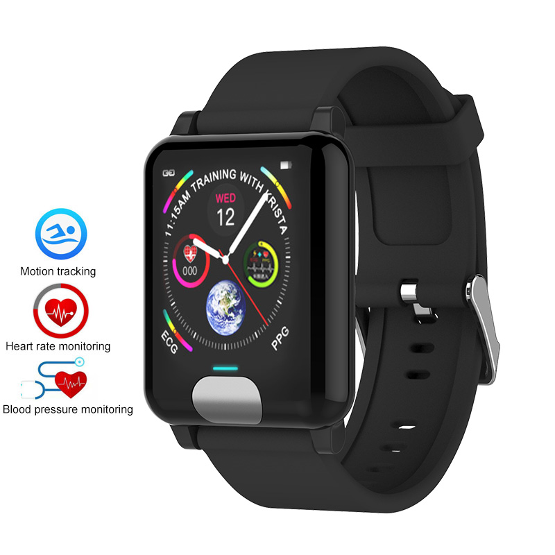 ECG PPG Bluetooth Smart Bracelet Heart Rate Monitor Fitness Blood Pressure Wristband for Android iOS PK