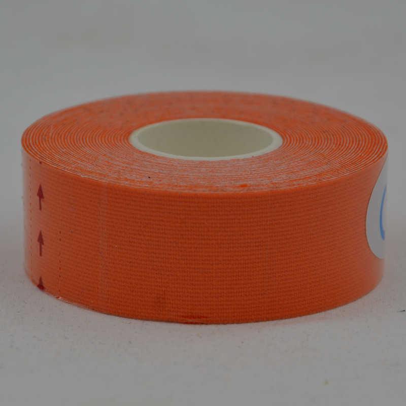 Vendaje elástico 2,5 cm X 5 m Kinesiología codo rodilleras cinta algodón Rock terapia física baloncesto rodilla dolor músculo cintas