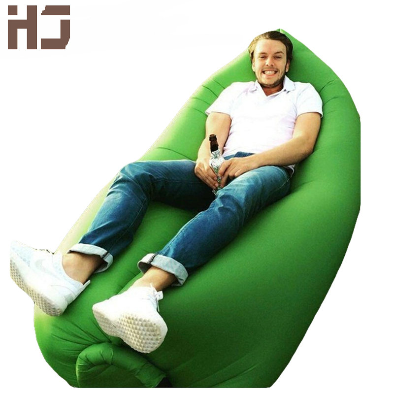 2016 fashion inflatable sofa high quality outdoor sleep relaxation air sofa colorful water proof folding cheap modern outdoor furniture