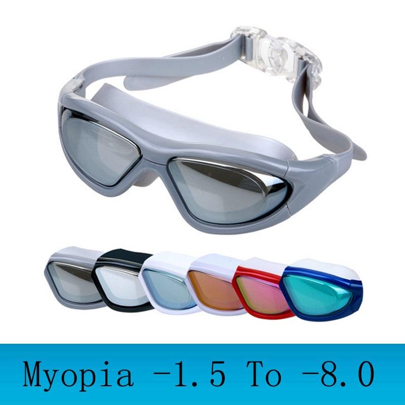 Myopie Schwimmen brille große rahmen Profi schwimmen gläser anti ...