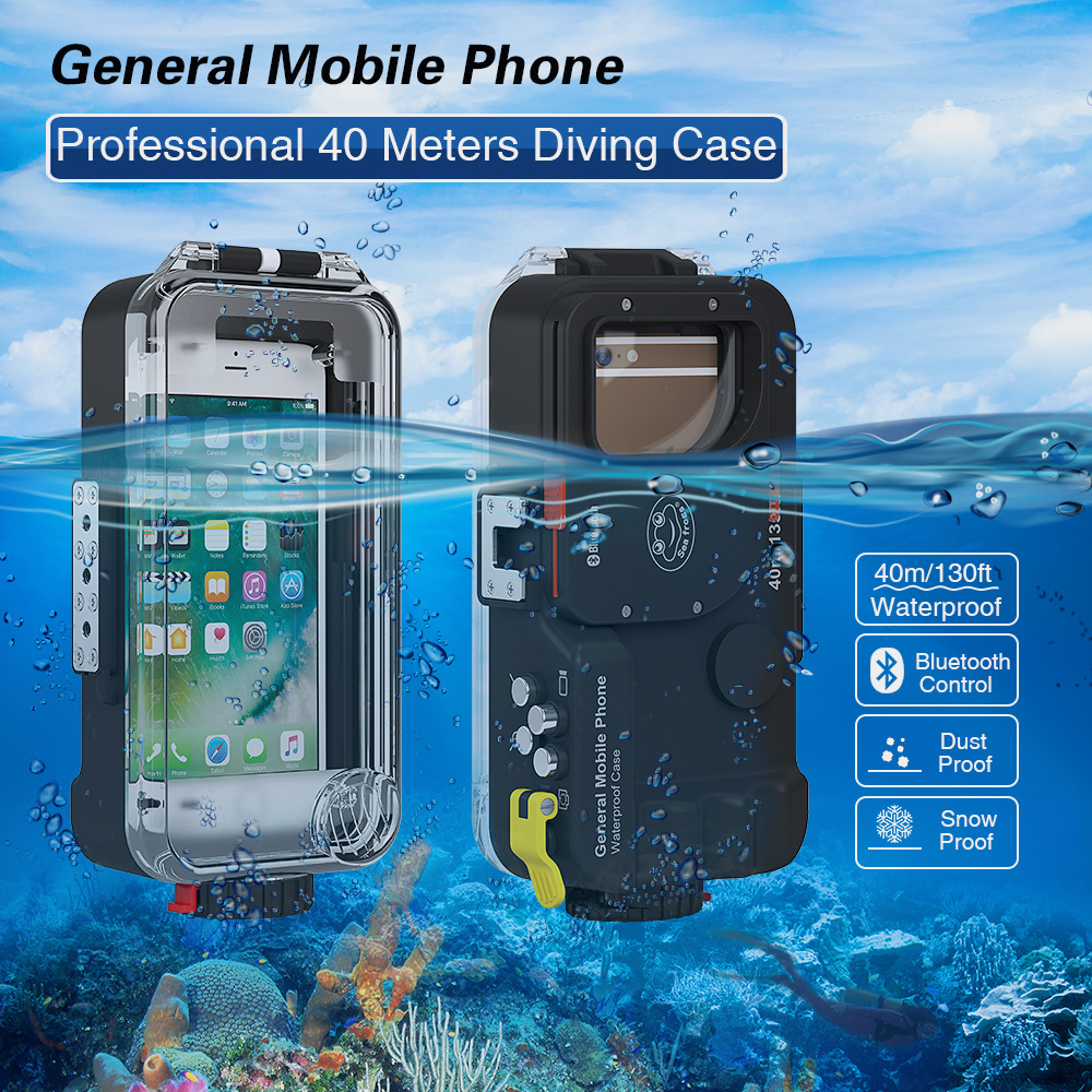Universal Waterproof case For Xiaomi Mi 8 A2 Lite A1 9 Mi8 Mi6 Mi9 SE 9t Pro Pocophone F1 Cover Photo Diving housing Underwater