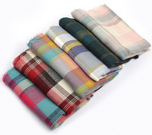 Plaid Scarf Women Blanket Shawl Oversized Long Scarves Warm Grid Tartan Check Scarf Pushmina Big Wrap For Women 190*65