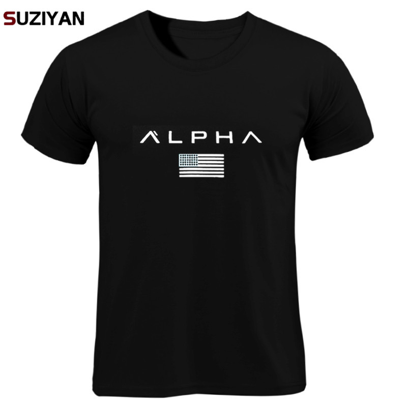 T  -  shirts   Print Men/Women Summer Tops Tees Men Loose O-neck Short Sleeve Fashion Casual Tshirts Plus Size ALPHA   Shirt   Men