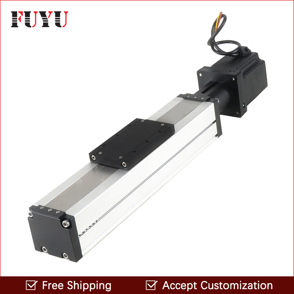 Free Shipping ontime delivery 100mm Stroke Ball Screw Linear Guide Rail Actuator Slide System with stepper motor professional manufacturer of linear actuator system axes position linear guide way linear rail