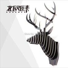 Nordic 3D деревянные стены олень, лось лось карибу оленей головы, Канада стиль домашнее украшение, искусства стены, пастырское висит головой животного стены