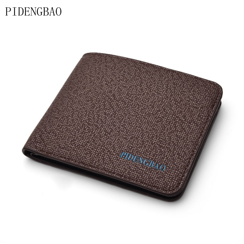 PIDENGBAO 2017 Men's Wallet With Coin Pocket exposure Short Men Wallets Cross pattern Male Purse With Card Holder PhotoBit 2017 hengsheng high grade quality cross pattern men s short wallet fashion men folding pocket purse solid free shipping for male
