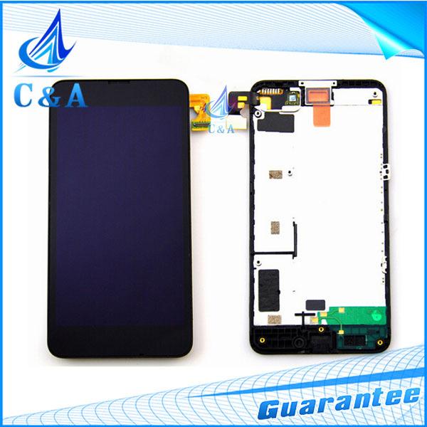 1 peça testado frete grátis peças de reposição para nokia lumia 630 635 display lcd + touch screen digitador com a montagem do quadro