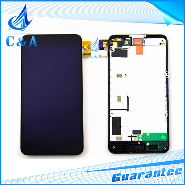 1 piece tested free shipping replacement parts for Nokia Lumia 630 635 lcd display+touch screen digitizer with frame assembly