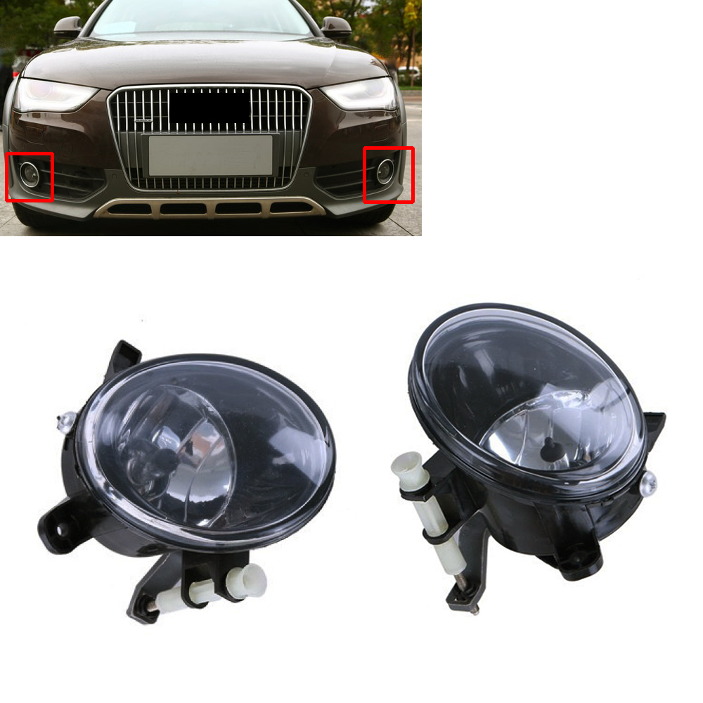Wooeight New Pair Front Right+Left Fog Light Lamp 8T0941699B 8T0941700B for Audi A4 A6 A5 A6 Q5 2010 -2012 2013 2014 2015 free shipping new pair halogen front fog lamp fog light for vw t5 polo crafter transporter campmob 7h0941699b 7h0941700b