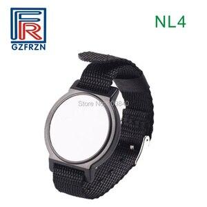 Image 4 - 1pcs 125khz RFID Adjustable Nylon wristband Bracelet watch strap card/tag with EM4100 Tk4100 for access control
