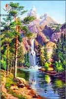 Handmade Needlework Diy Diamond Painting Kit Embroidery Plant Full Rhinestone Nature Scenery Cross Stitch Painting