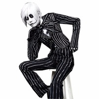 2018 The Nightmare Before Christmas Jack Skellington Anime Cosplay Costume For Adult Custom Made