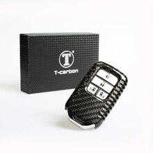 T-CARBON углеродного волокна Ключ Защитный чехол для Honda