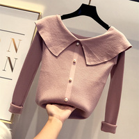 790a96545 MUMUZI Pearl Knitted Winter Pullover Sweater Female Autumn O Neck Long  Sleeve Women Jumper Casual Turn. Ver Oferta. LYNETTE S CHINOISERIE Outono  Mulheres ...