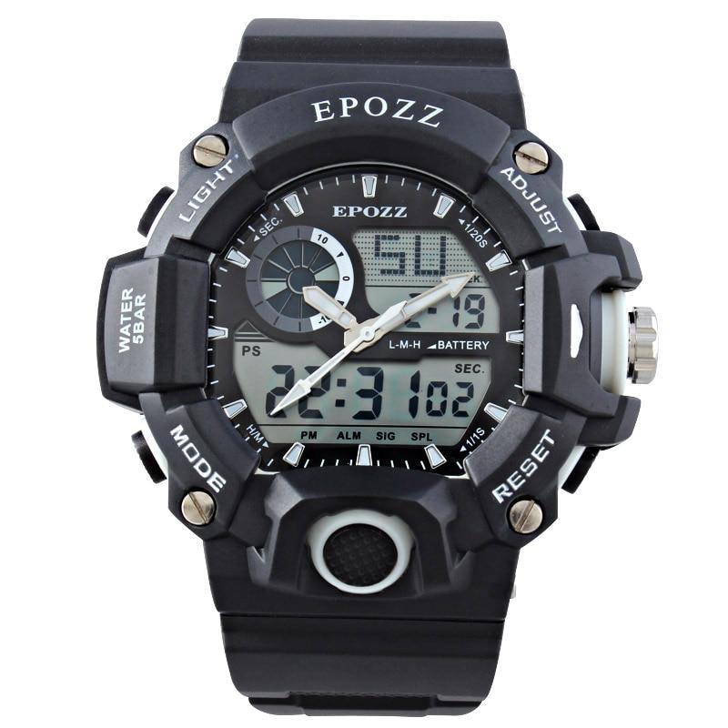 Epozz Männer Sport Militär Uhren Led Digital Mann Marke Uhr 5atm Dive Swim Kleid Fashion Outdoor Jungen Elektronische Armbanduhren Herrenuhren