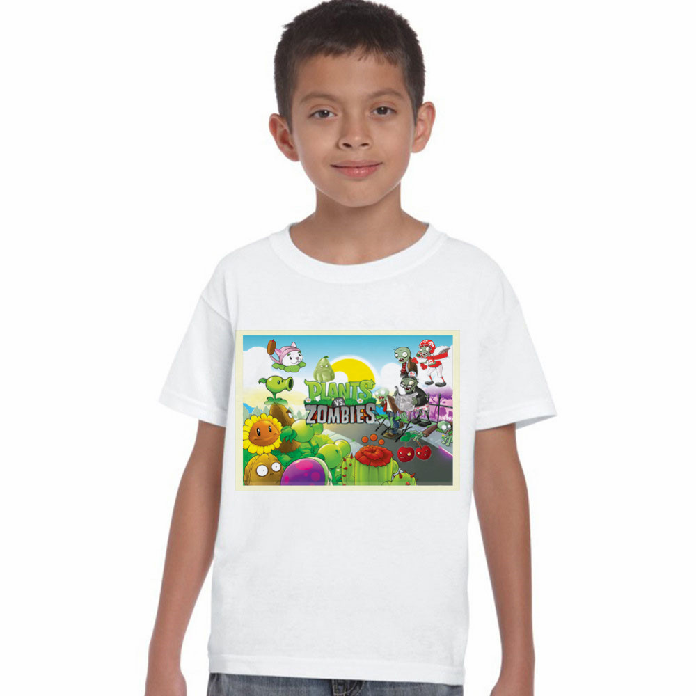 LYTLM White Tshirt Kids Plants VS Zombies Clothing Casual Girls Clothes 2018 New Summer Toddler Boys Tops Cotton Kids Shirt Boys