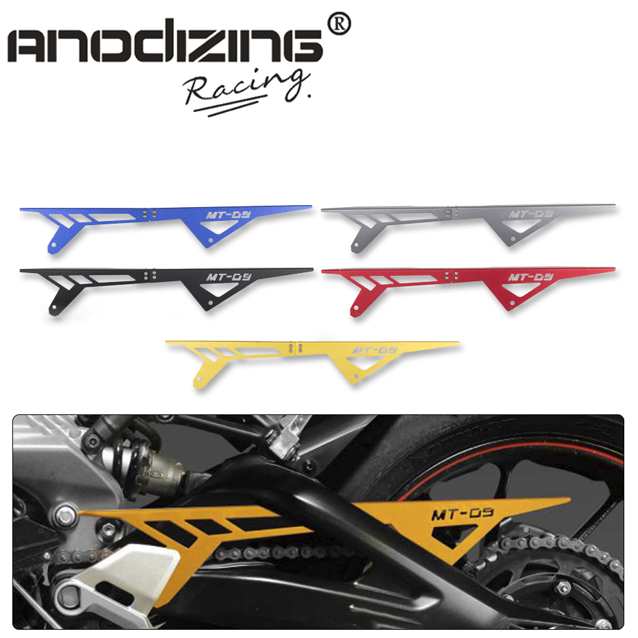 Free Shipping Motorcycle MT09 FZ09 CNC Aluminum Chain Guards Cover Protector For Yamaha MT-09 FZ-09 2013-2016 gt motor motorcycle mt09 fz09 cnc aluminum chain guards cover protector for yamaha mt 09 fz 09 2013 2014 2015 2016