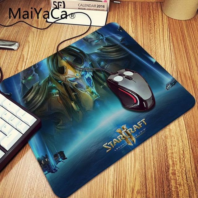 MaiYaCa  Starcraft Laptop Gaming Mice Mousepad Locking Edge Rubber Large Mousepads for DOTA2 Game Playing Lover 1