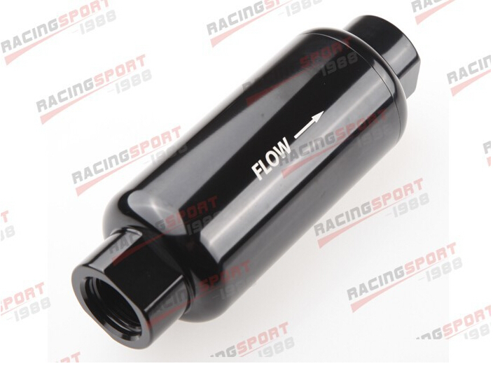 AN 10 AN10 Black Anodised Billet Magnetic High Flow Fuel Filter 100 Micron