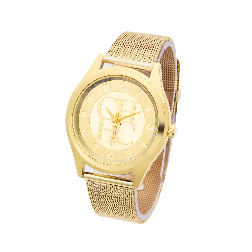 2018 New Brand Gold Silver Casual Quartz Watch Klockor Metal Mesh - Damklockor - Foto 3