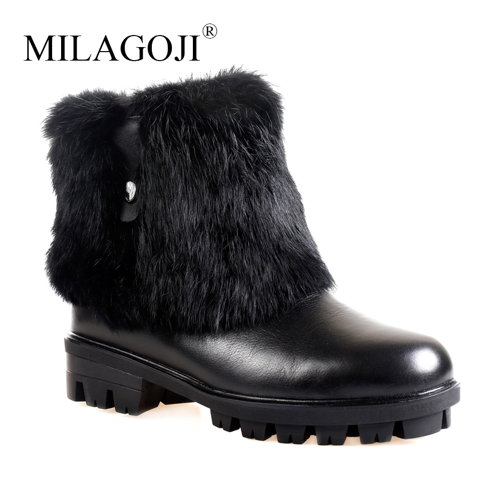 Fashion Real Full Grain Leather Suede fur Lined women Sheep fur winter short ankle snow boots for girls Two Zipper Winter Shoes