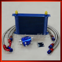 SPECIAL OFFER HIGH QUALITY Aluminum Engine Transmission AN10 16 Row Oil Cooler Kit With Filter Relocation Kit