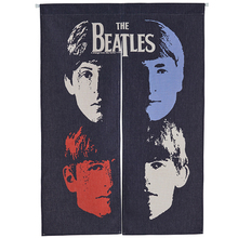 Taiwan Japan style Chinese American rock music poster bar fabric door curtain shade Beatles hanging bedroom living room kitchen