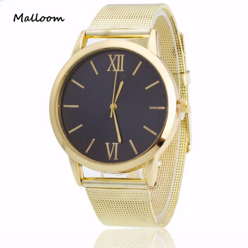 silver and gold mens watch bands promotion shop for promotional malloom top brand luxury famous men watch silver gold mesh band males wrist watch men business casual quartz watch clock y25