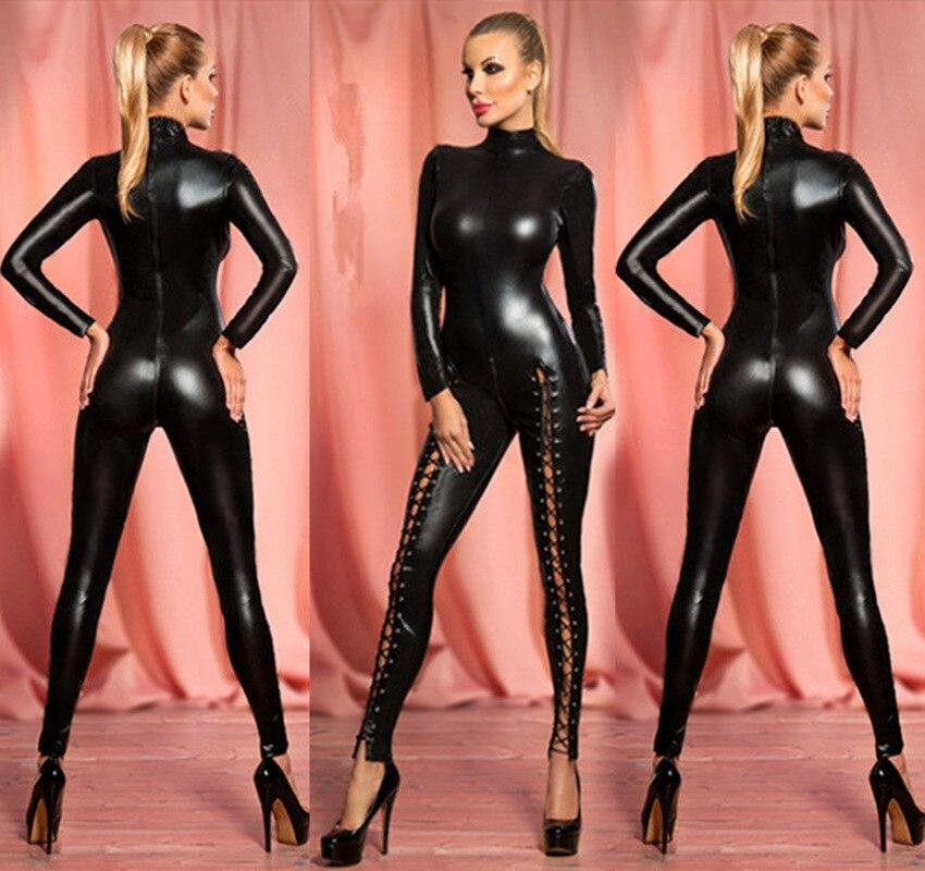 Enthousiast 2017 S-2xl Collectie Volwassen Kostuum Kat Vrouwen Lederen Jumpsuit Night Prowler Sexy Catwoman Catsuit Zwarte Kat Halloween Kostuum