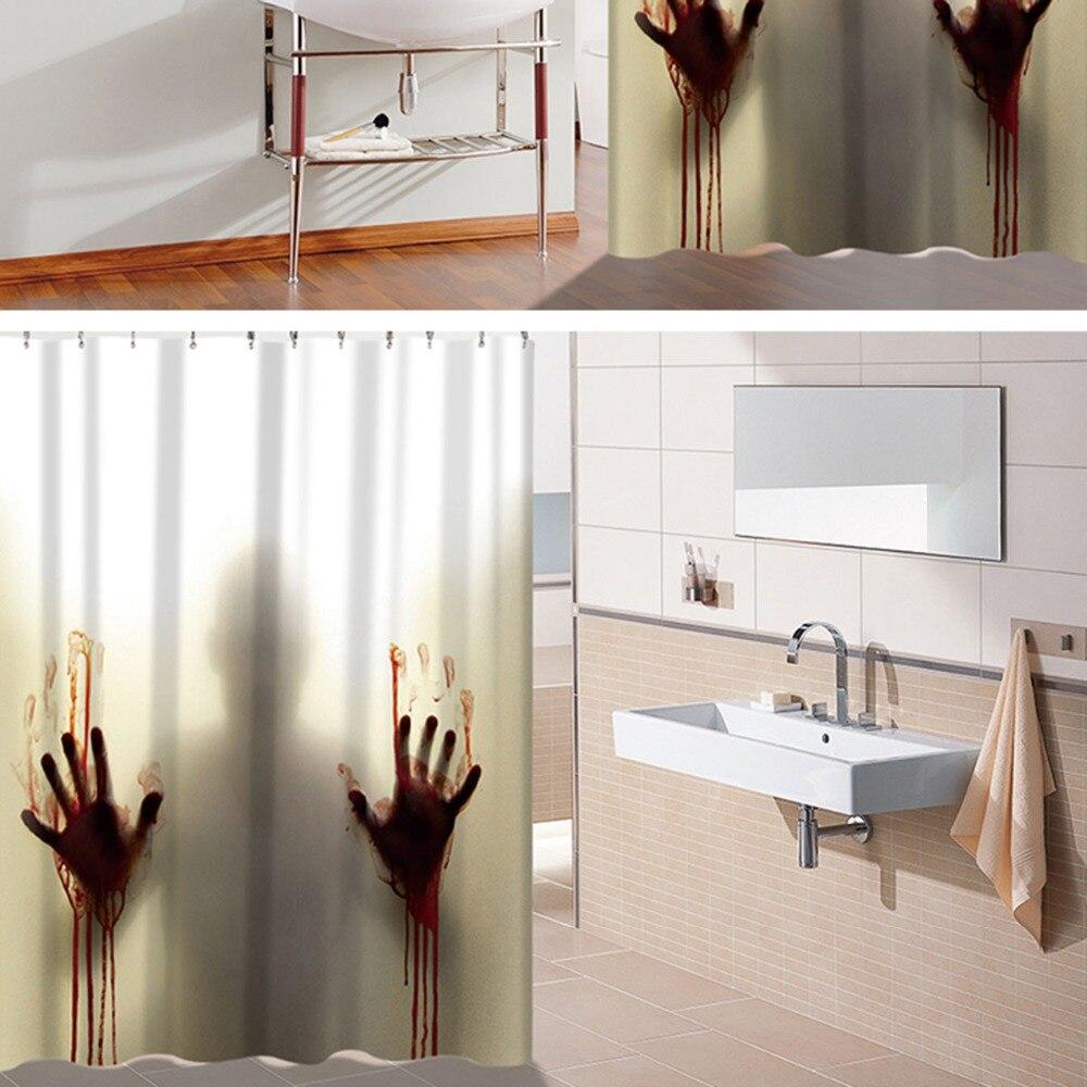 Blutige Hand Horror Nach Dusche Vorhang Badezimmer Dekoration Scary Haus Dekor Silhouette Wasserdicht Fur Toiletten Liefert Custom Shower Curtain Shower Curtainshower Curtain Bathroom Aliexpress