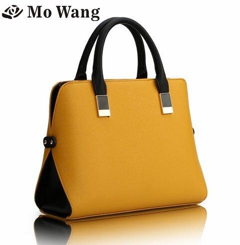 New Mo Wang Designer Handbags High Quality Women Bag Fashion Brand Ladies hand bag Big Pu