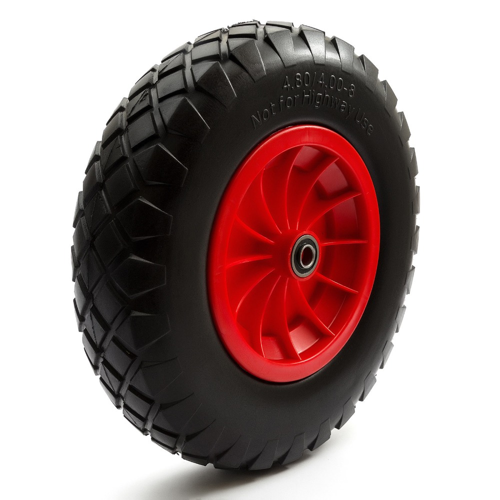 16 Inch Large Capacity Load Wear-Resistant PU Wheels for Carts Trailers Puncture Proof Solid Wheelbarrow Trolley Tyre Wheels 10 inch professional wear resistant pu wheels for carts trailers puncture proof solid wheelbarrow trolley tyre wheels