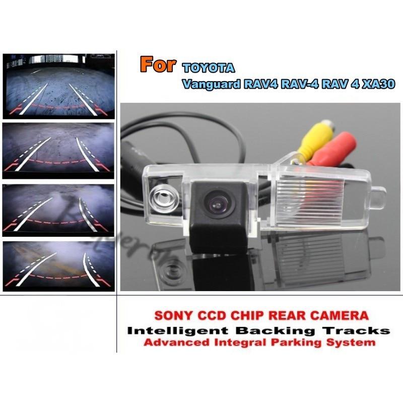 Pour TOYOTA Vanguard RAV4 RAV-4 RAV 4 2005 ~ 2012 pistes intelligentes puce caméra HD CCD Intelligent dynamique caméra de recul