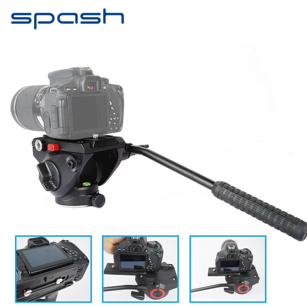 Spash vidéo photographie fluide glisser tête hydraulique trépied tête rapide libération plaque niveaux à bulles panoramique tir oiseau observation