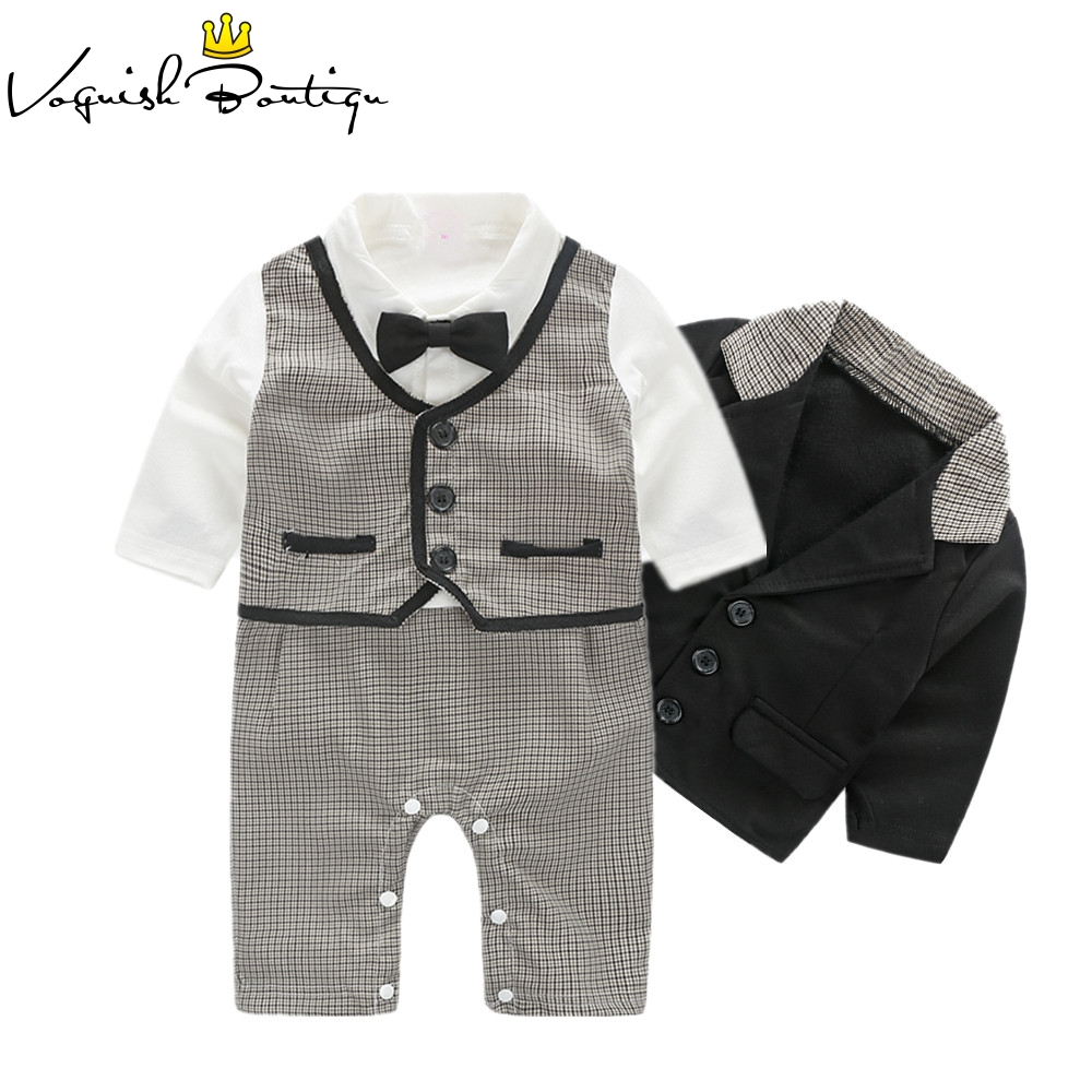gentleman baby boy clothes party newborn baby boy clothes baby born clothes rompers+coat 2pcs/set 2pcs set baby clothes set boy