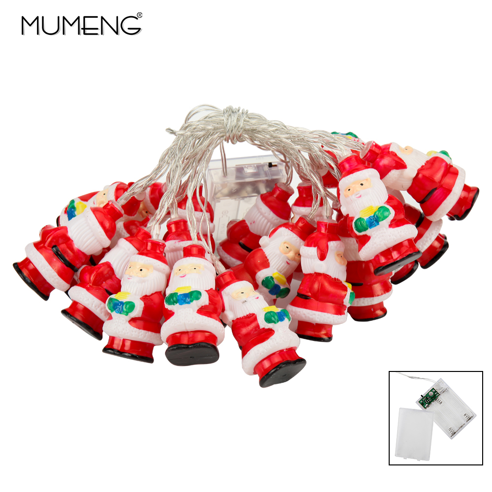 MUMENG Christmas Light String LED Santa Claus Waterproof