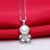 Sinya 925 Pingente de prata com Corrente para as mulheres Natural pérola de água doce charme colar gargantilha bonito do urso de design de Jóias