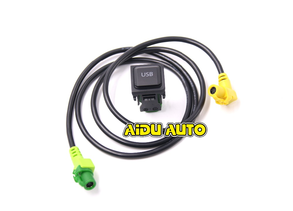 FOR <font><b>VW</b></font> RCD510 <font><b>GOLF</b></font> <font><b>5</b></font>/6 SCIROCCO JETTA MK6 <font><b>USB</b></font> INPUT KIT <font><b>USB</b></font> CONNECTOR SURFACE 5KD 035 726 A image