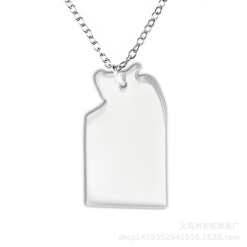 c086dc92809 SUTEYI Marque Acier Inoxydable Collier Personnalisé État Australien Carte Pendentif  Colliers Jwelry Femmes Cadeaux