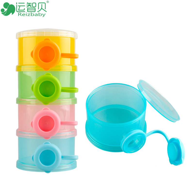 Four-lattice brand newborn baby food storage containers bpa free <font><b>cups</b></font> formula milk powder box <font><b>dispenser</b></font> care products for baby