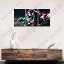 3 Pieces Abstract Cartoon Poster Wall Art Picture Home Decoration Buddha Zen Portrait Canvas Painting for Family Room Decor