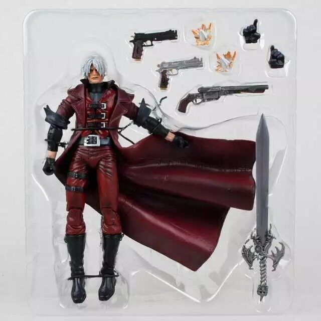 SAINTGI Devil May Cry Dante PVC 18CM Action Figure Collection Game Model Dolls Kids Toys Free Shipping devil may cry3 dante pvc action figure model toys kids gifts collections