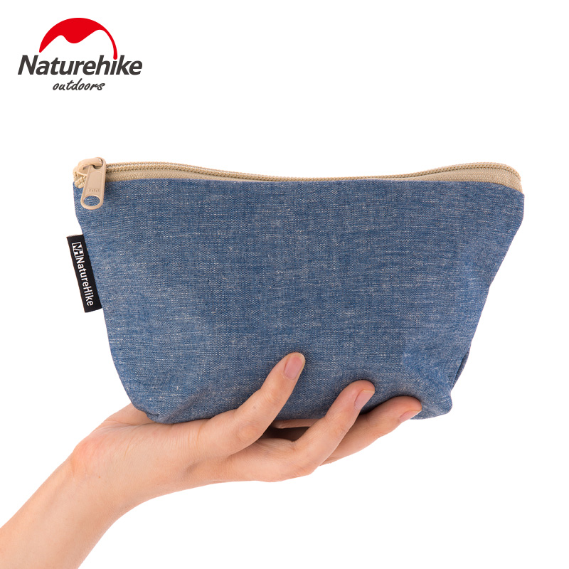Naturehike Unisex Canvas Storage Travel Kits Bag Portable Purse Zipper Wallet Sundries Coins Keys Holder Case Outdoor Travel Kit
