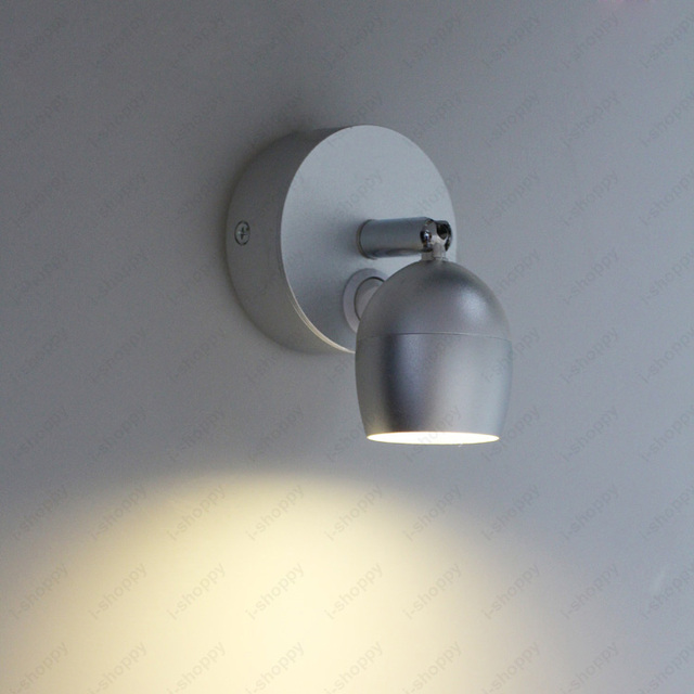 5w Led Cob Wall Mount Light Fixture On Off Reading Picture Lamp Rotatable Lobby Bedroom Living Room Aisle