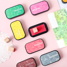1PC 12Color Colorful Candy In Heart-shaped decoration InkPad DIY Diary Seal accessories kawaii stamps supplies